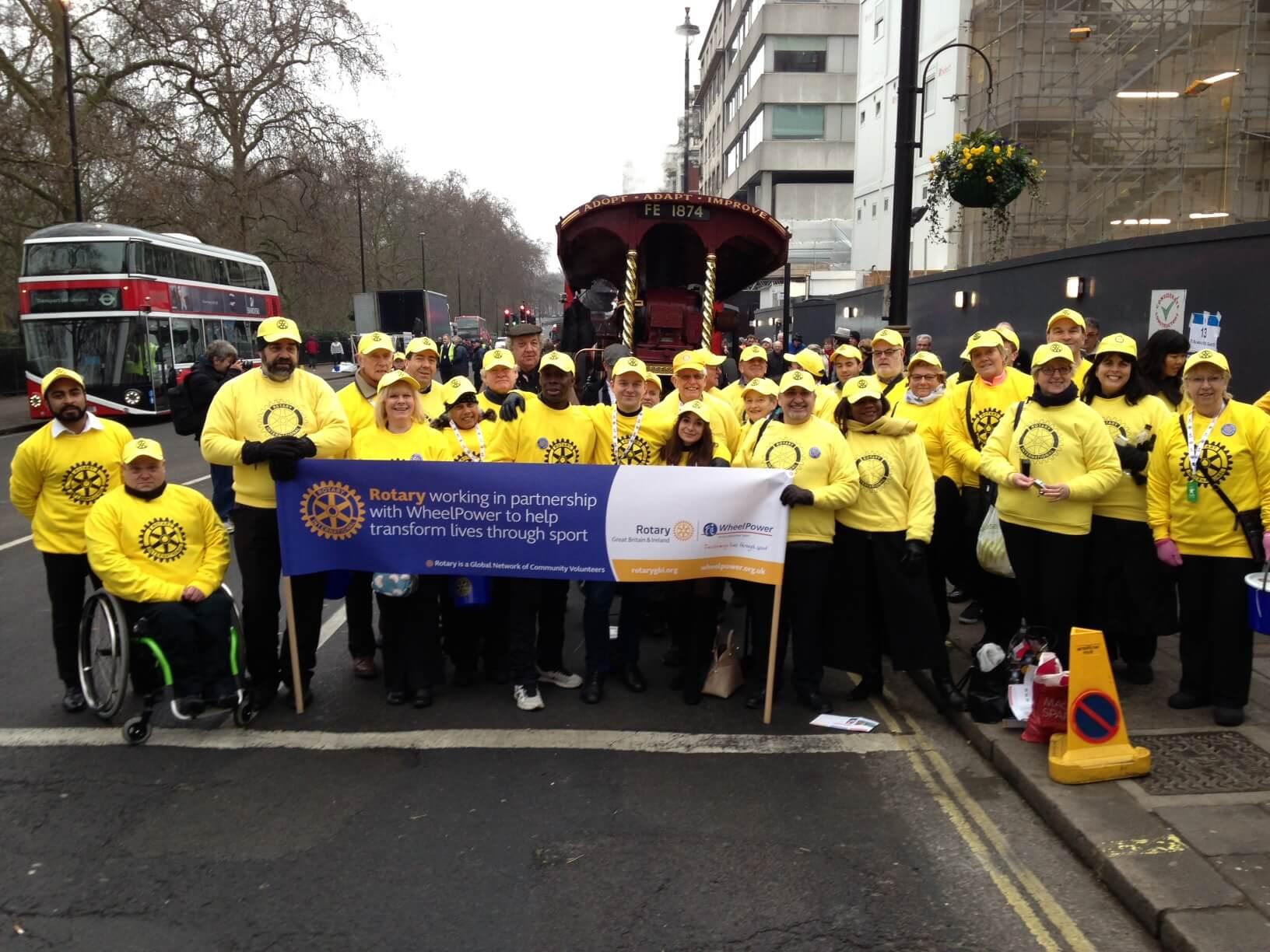 Rotary kicks of 2015 in London New Year's Day Parade