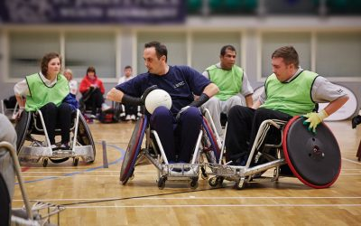 wheelchair basketball players supported by WheelPower