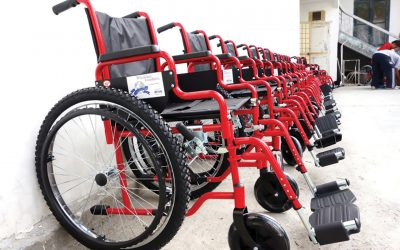 new wheelchairs donated to disabled people through wheelchair foundation
