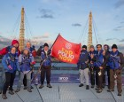 Rotarians fly the flag over London Skyline on Rotary Birthday