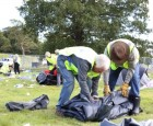 The big V Festival clean up