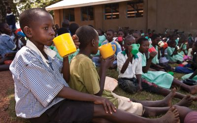 Children given food to meet Sustainable Development Goals to end hunger