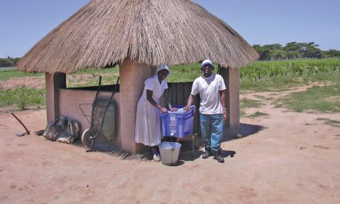 Family access clean water with Aquabox