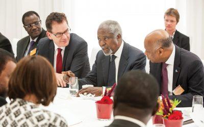 Kofi Annan promoting peace