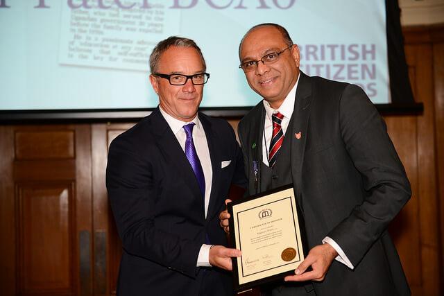 British Citizen Award for Polio Campaigner