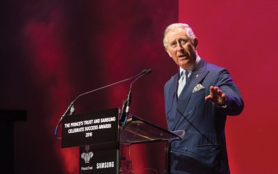 Prince Charles speaking Prince's Trust event