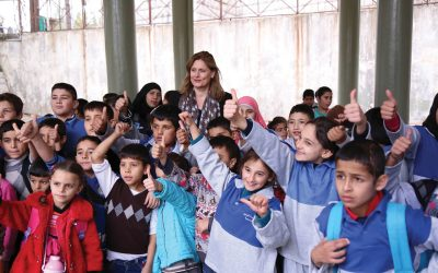 Sarah Brown visits Lebanon with charity Theirworld supporting education