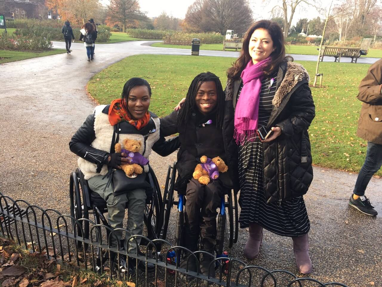 Rotary and RHS Go Purple4Polio In Regent's Park