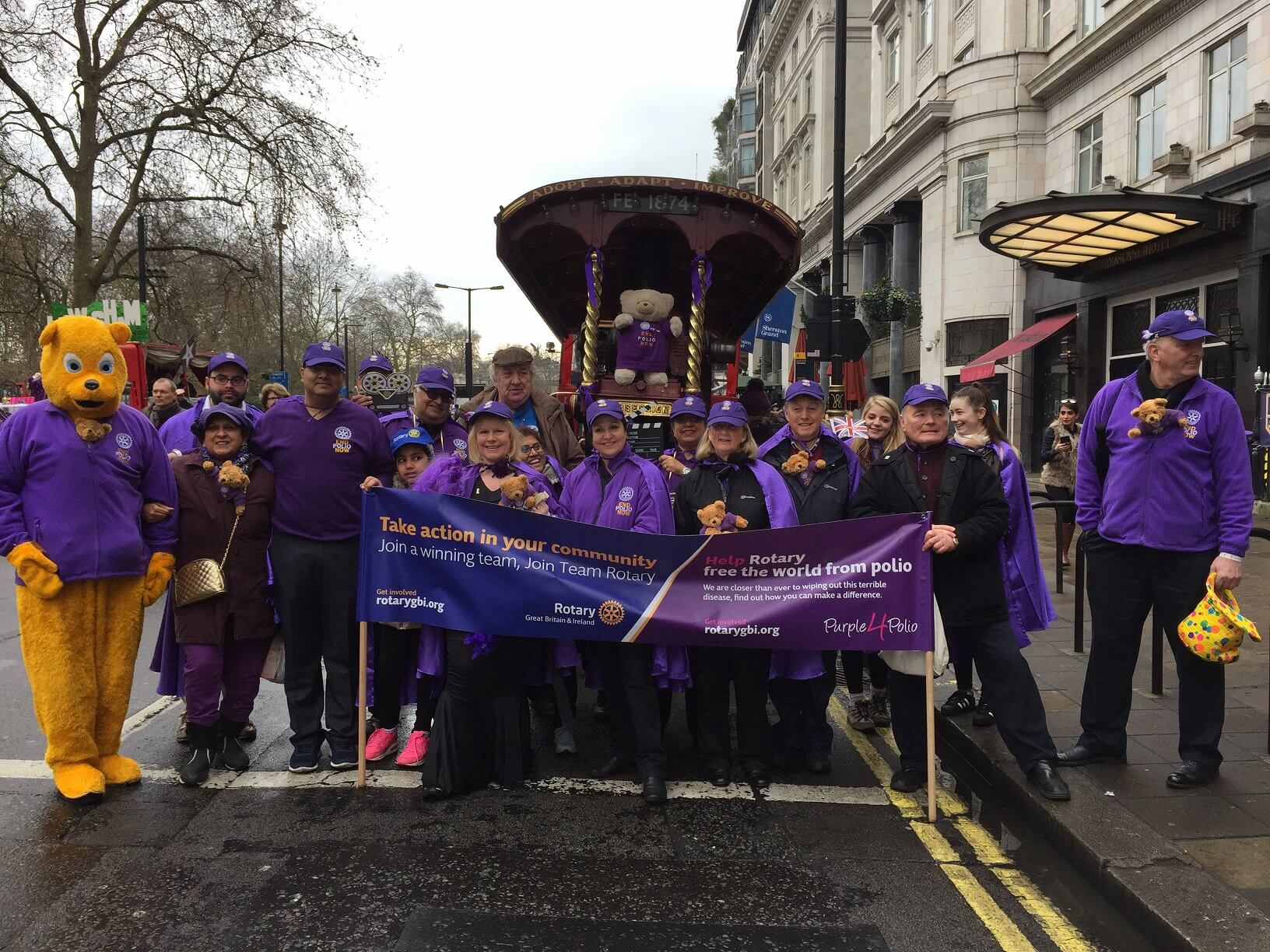 Rotary Goes Purple For The Parade