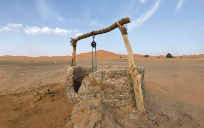 well providing clean water in dry desert land