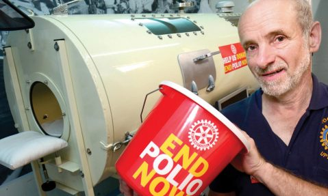 Rotary member builds iron lung to raise awareness for End Polio Now
