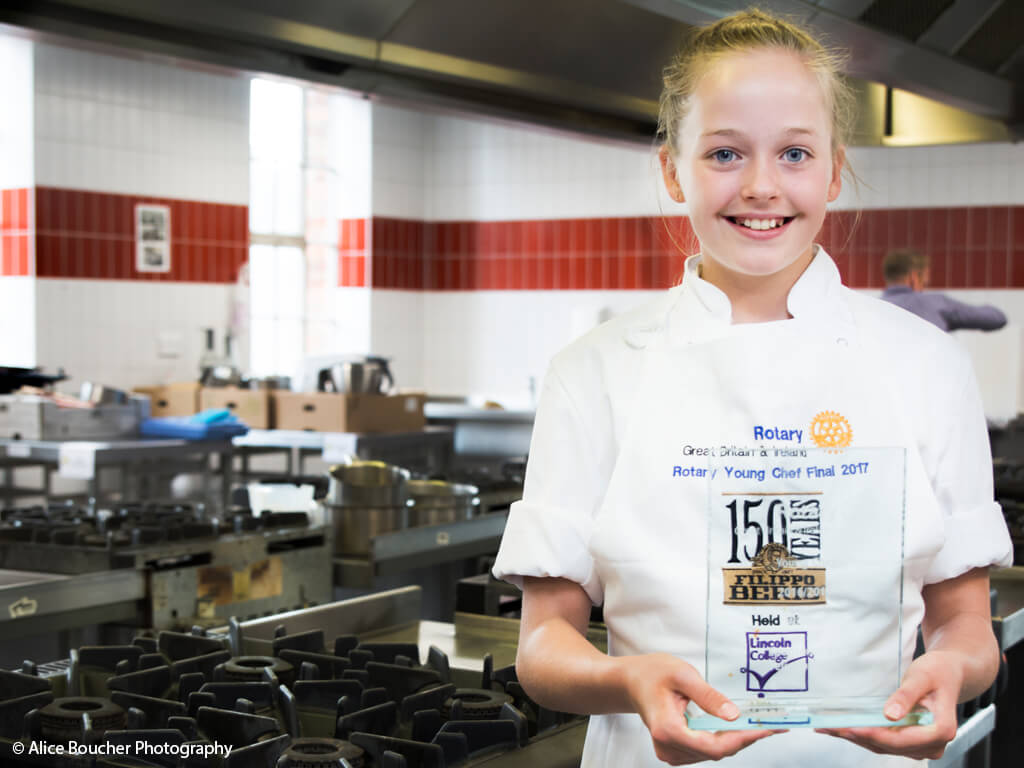 Terrific Tabitha crowned youngest ever Rotary Young Chef