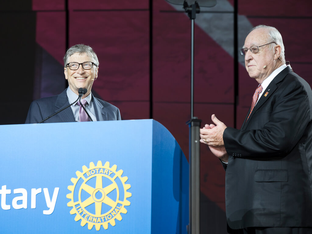 $450 million polio pledge highlight of Rotary Convention