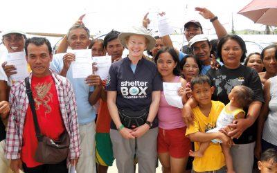 shelterbox response volunteer Lix Odell