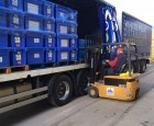 Rotarians load Aquaboxes bound for Nepal