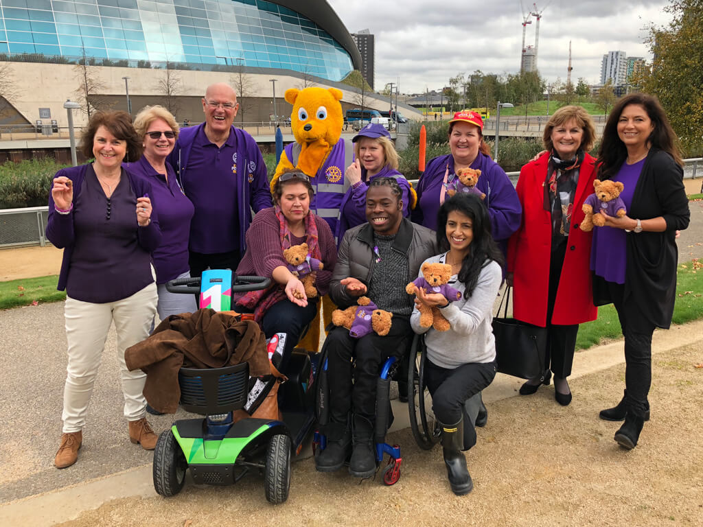 Paralympian Ade Joins Rotary's World Polio Day Celebrations At Queen Elizabeth Olympic Park
