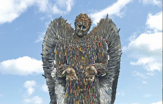 british ironwork knife angel tackling knife crime