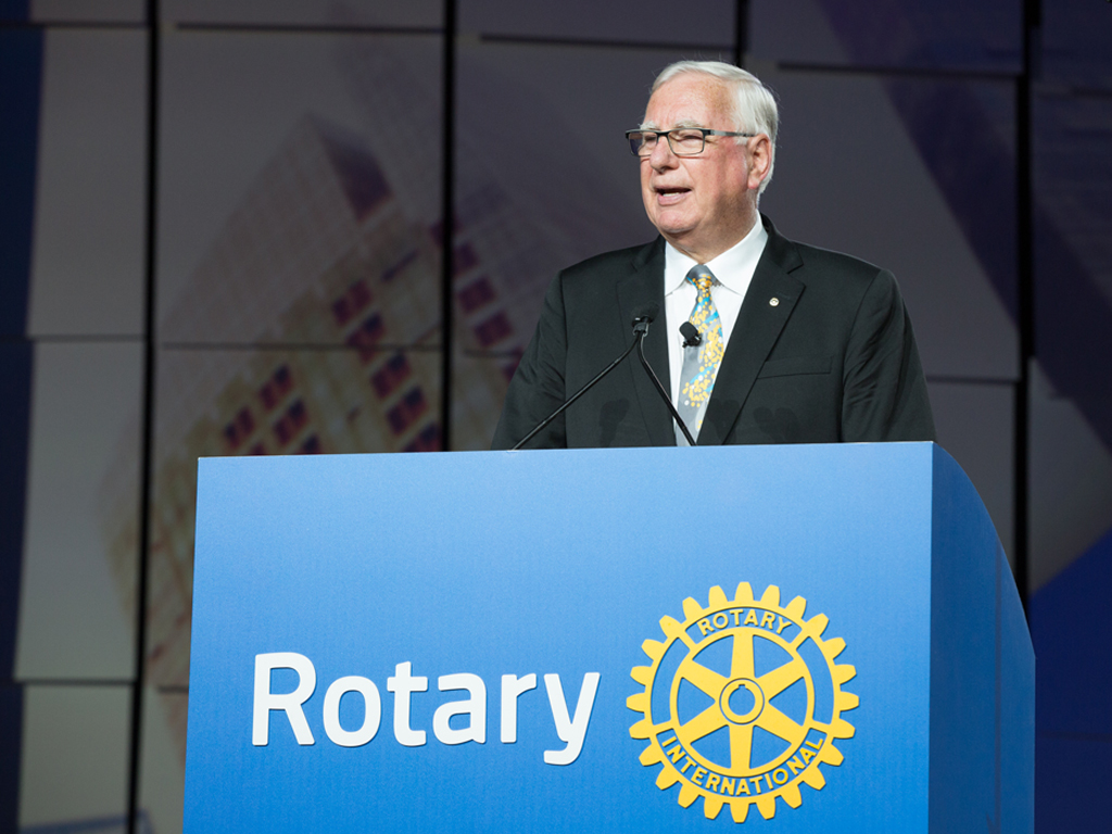 Rotary President Ian Riseley looks ahead to Coventry Peacebuilding Conference