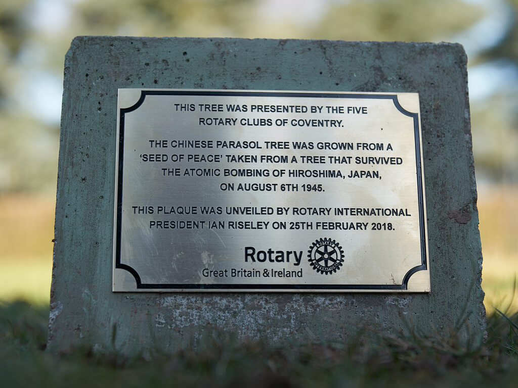 Rotary Day - Tree Planting Sign - Coventry