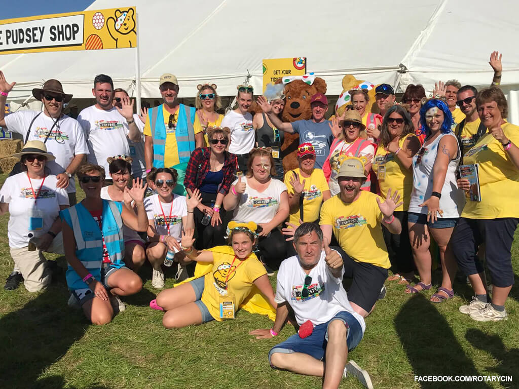 Rotary Exceeds Children in Need fundraising target