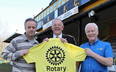 rotary members at melrose seven event