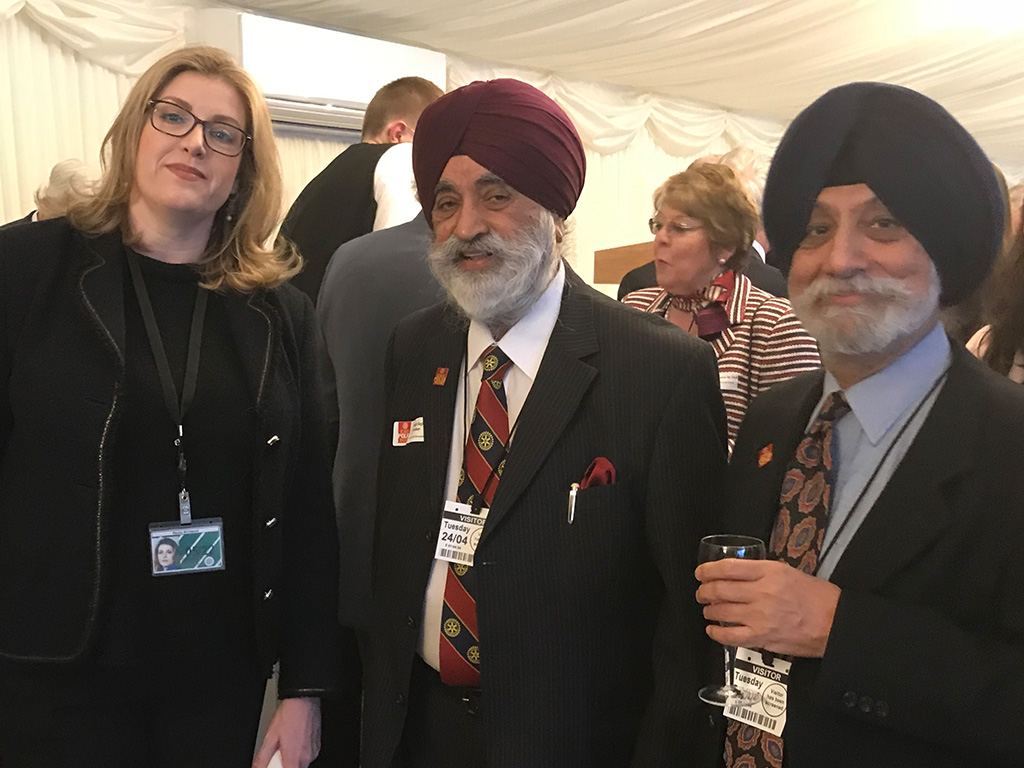 Rotary's polio volunteers celebrated at government reception