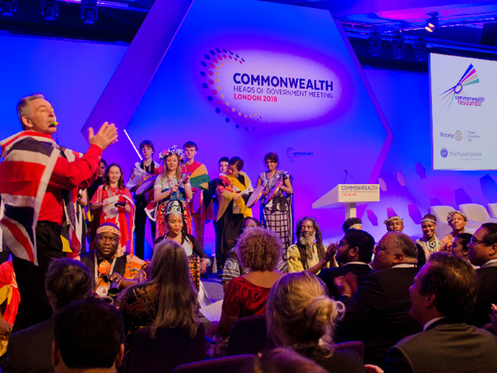 Rotary bangs the drum at CHOGM 2018