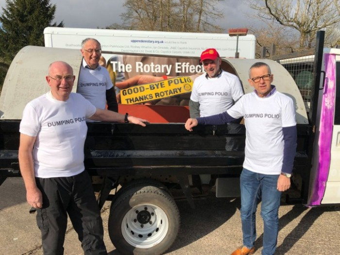 Helping to dump polio with Rotary Grand Tour