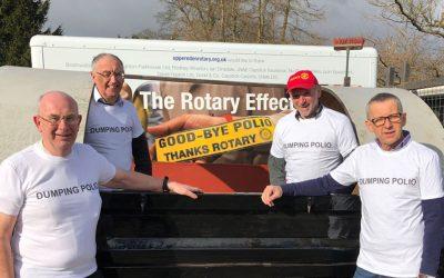 four rotary members rotary grand tour dumping polio