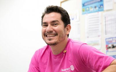 Rotaract member smiling