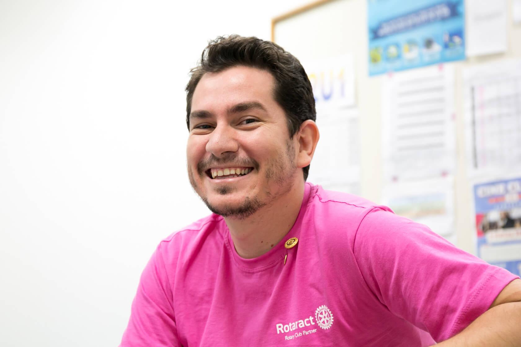 Rotaract member smiling