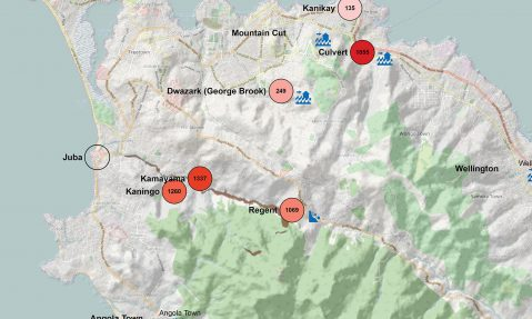 mapaction sierra leone landslide floods