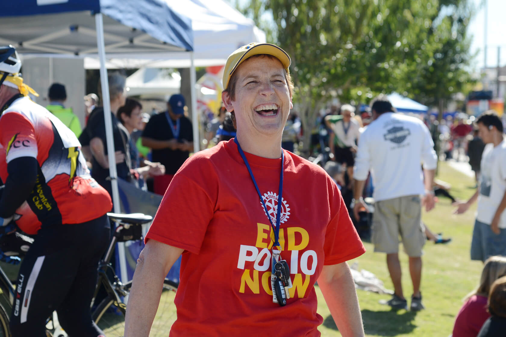 rotary member smiling end polio now event
