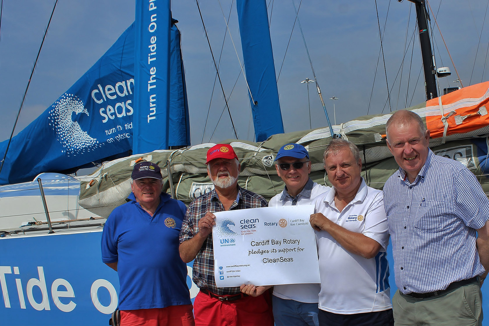cardiff bay rotary support cleanseas