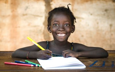 african girl studying rotary supporting education