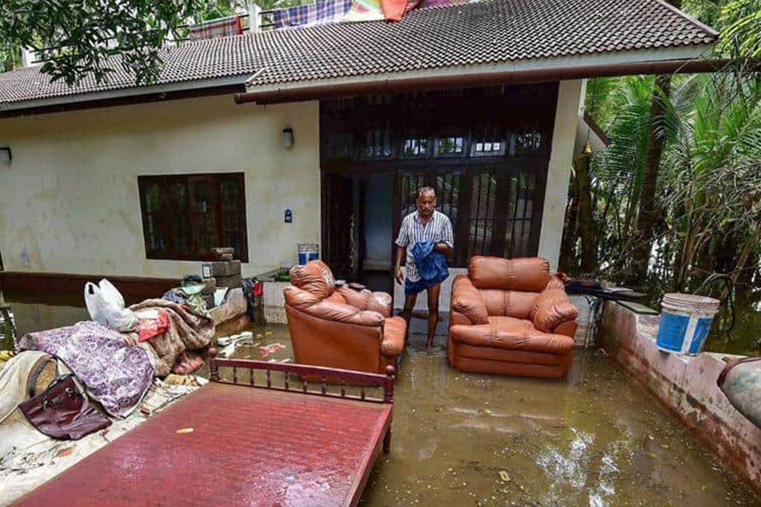 rebuilding kerala after homes are flooded