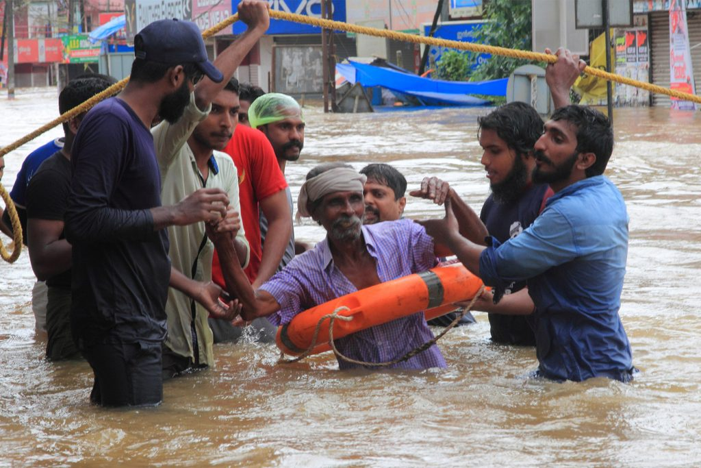 rescue team floods kerala