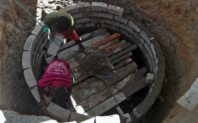 fresh water well being build in sri lanka supported by rotary foundation