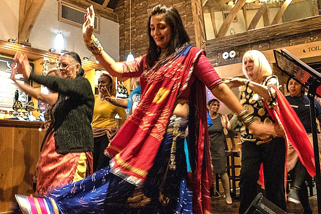 bollywood dancing restaurant fundraiser