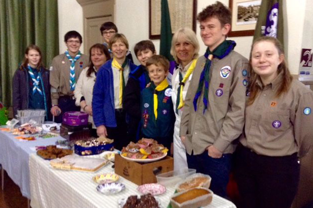children hosting bake sale raising funds