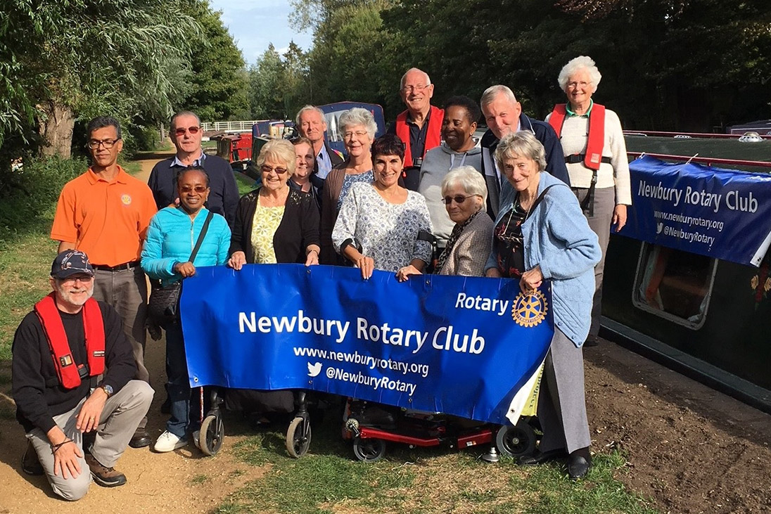 newbury annual barge event volunteers gather