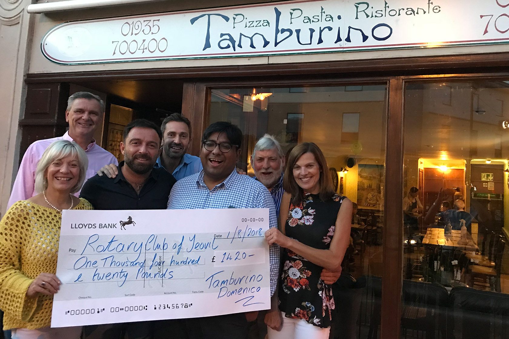 Restaurant Helps Rotary Yeovil To Raise Funds For Projects