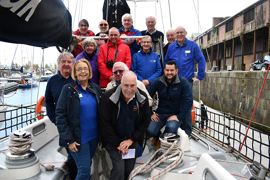 rotary members and ocean youth trust scotland sailing carers