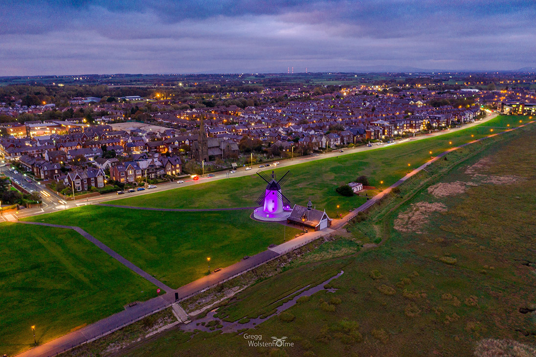 lytham windmill purple illumination world polio day
