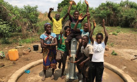 village water providing clean water for community rotary project