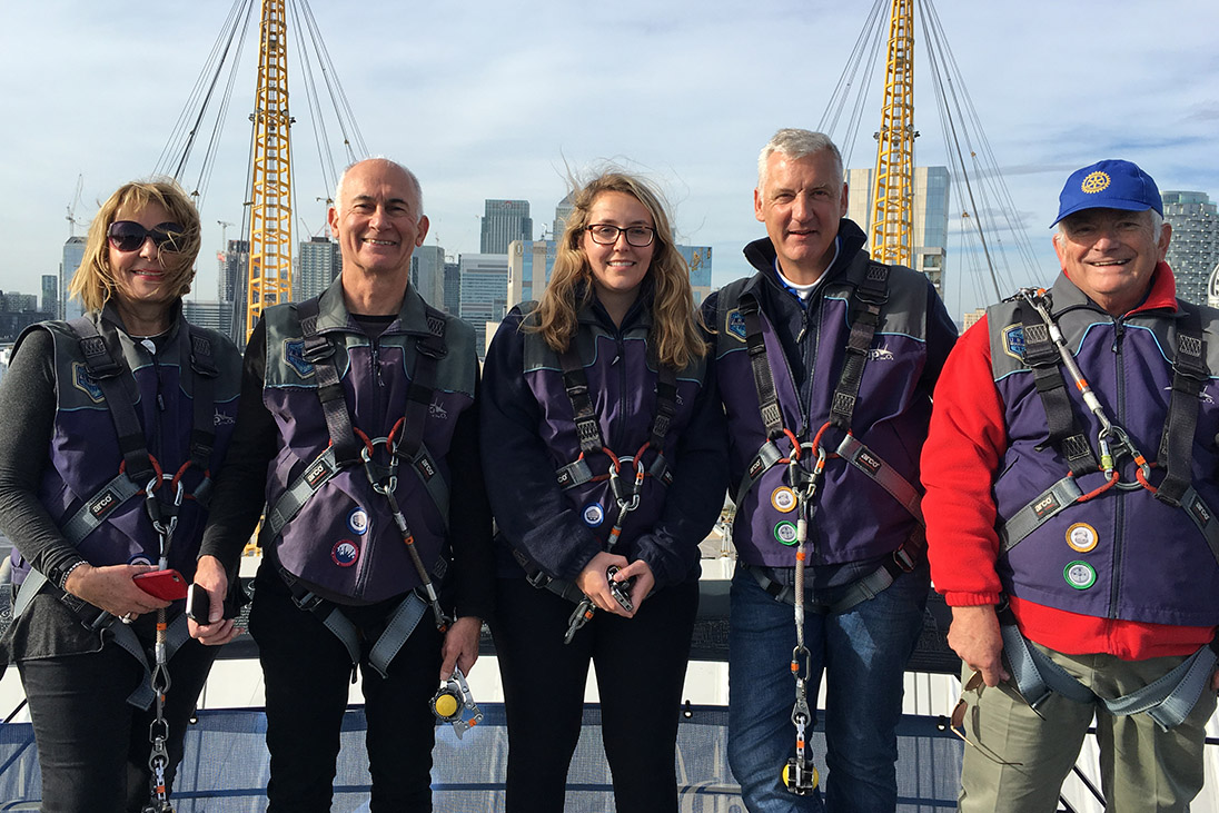 london o2 arena rotary end polio now climb purple4polio