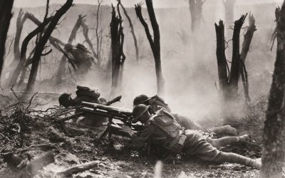 war shooting battle soldiers lying on the ground