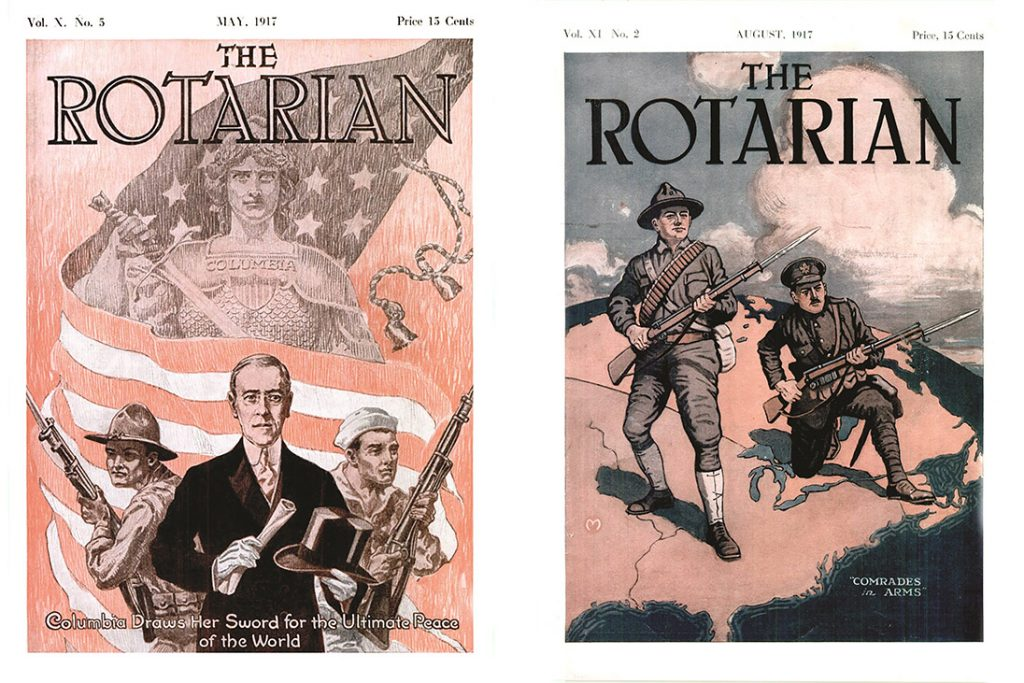 the rotarian magazine covers 1917