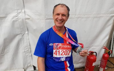 rotary member marathon fundraising