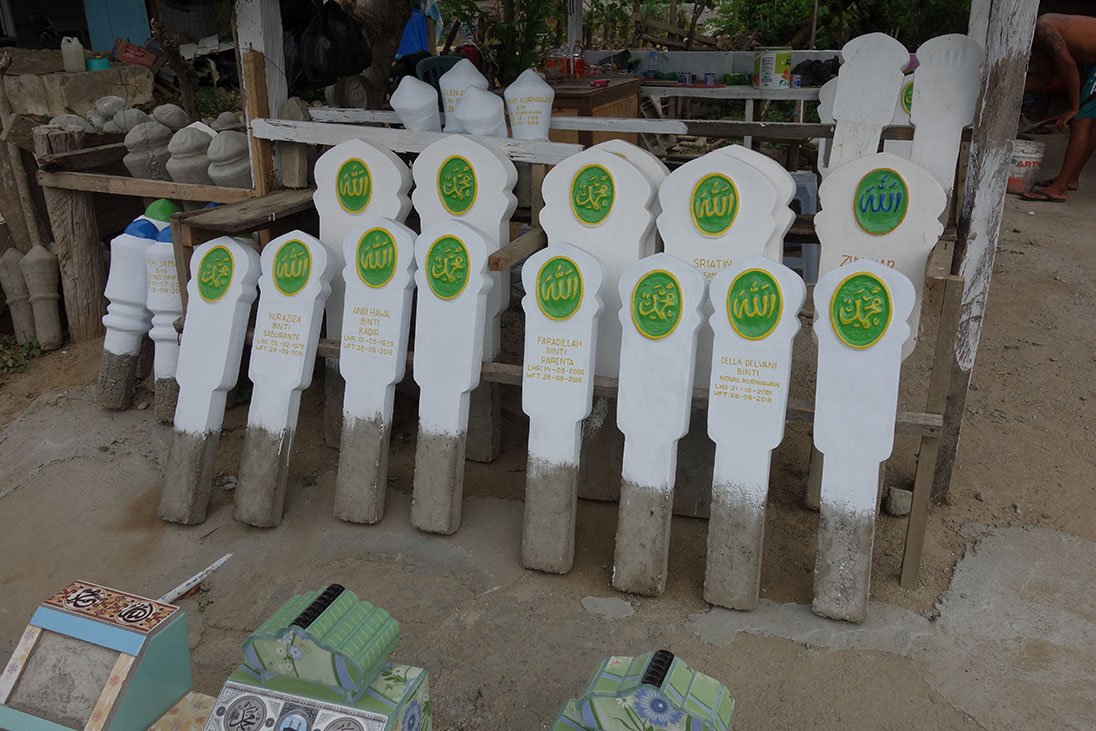 indonesia tsunami gravestones